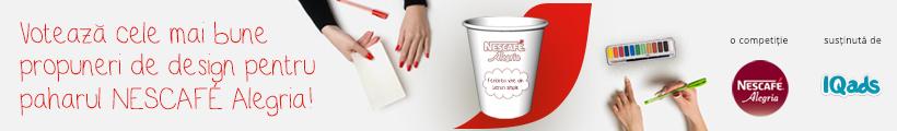 Competitia de design NESCAFÉ Alegria, cafeaua ta cu bun gust