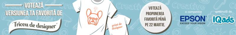 Tricoul tau de designer. Imprimat cu EPSON
