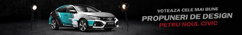 Imbraca un Civic 5D in haine noi si participa in competia de design HONDA